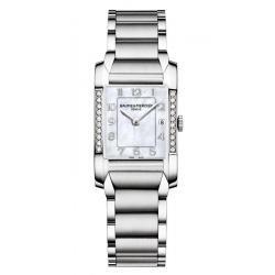 Buy Women's Baume & Mercier Watch Hampton 10051 Diamonds Mother of Pearl
