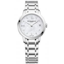 Buy Women's Baume & Mercier Watch Classima 10326 Diamonds Mother of Pearl