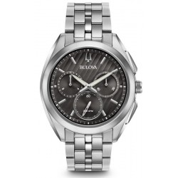 Buy Men's Bulova Watch Progressive Dress Curv 96A186 Quartz Chronograph
