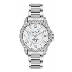 Buy Women's Bulova Watch Marine Star 96R232 Diamonds Mother of Pearl