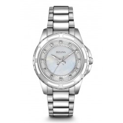 Buy Women's Bulova Watch Diamonds 96S144 Mother of Pearl Quartz