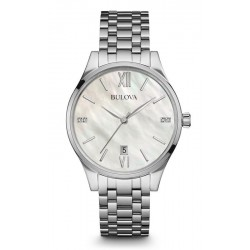 Buy Women's Bulova Watch Diamonds 96S161 Mother of Pearl Quartz