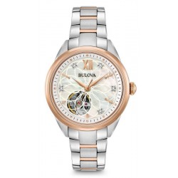 Buy Women's Bulova Watch Classic 98P170 Diamonds Mother of Pearl