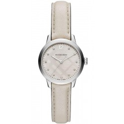 Buy Women's Burberry Watch The Classic Round BU10105 Diamonds