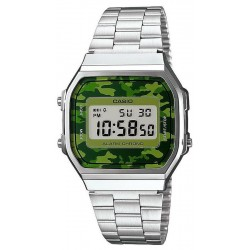 Buy Casio Collection Unisex Watch A168WEC-3EF Camouflage Multifunction Digital
