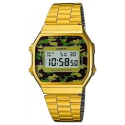 Buy Casio Collection Unisex Watch A168WEGC-3EF Camouflage Multifunction Digital
