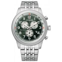 Buy Mens Citizen Watch Aviator Chrono Eco Drive AT2460-89X