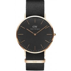 Buy Men's Daniel Wellington Watch Classic Black Cornwall 40MM DW00100148