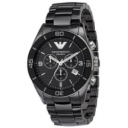 Buy Men's Emporio Armani Watch Ceramica AR1421 Chronograph
