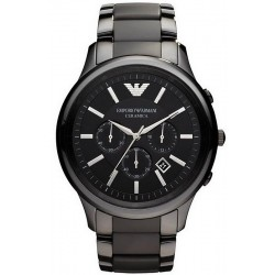 Buy Men's Emporio Armani Watch Ceramica AR1452 Chronograph