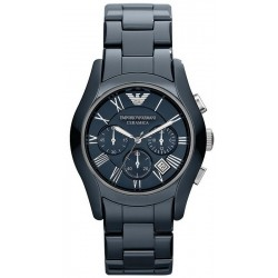 Buy Men's Emporio Armani Watch Ceramica AR1469 Chronograph