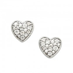 Buy Women's Fossil Earrings Sterling Silver JFS00151040 Heart