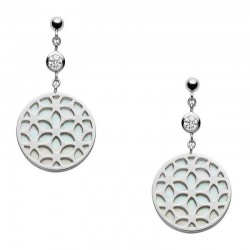 Buy Women's Fossil Earrings Sterling Silver JFS00461040 Mother of Pearl