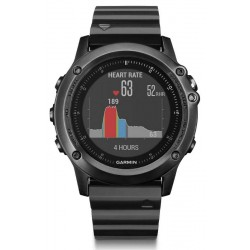 Men's Garmin Watch Fēnix 3 HR Sapphire 010-01338-7E GPS Multisport Smartwatch