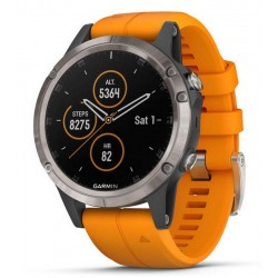 Men's Garmin Watch Fēnix 5 Plus Sapphire 010-01988-05 GPS Multisport Smartwatch