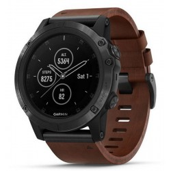 Men's Garmin Watch Fēnix 5X Plus Sapphire 010-01989-03 GPS Multisport Smartwatch