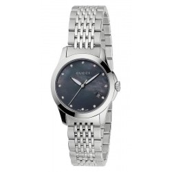 Buy Women's Gucci Watch G-Timeless Small YA126505 Diamonds Mother of Pearl