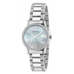 Women's Gucci Watch G-Timeless Small YA126543 Diamonds Mother of Pearl