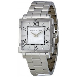 Buy Women's Hamilton Watch Jazzmaster Square H32291114 Diamonds Mother of Pearl