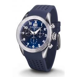 Men's Locman Watch Isola d'Elba Quartz Chronograph 0460A02-00BLWHSB