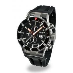 Buy Men's Locman Watch Montecristo Professional Diver Chronograph 051200KOBKNKSIK