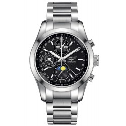 Buy Men's Longines Watch Conquest Classic Chronograph Moonphase Automatic L27984526