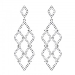 Women's Swarovski Earrings Chandelier Lace 5382358