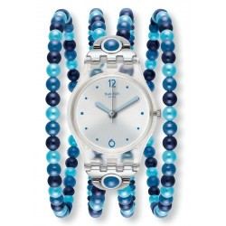 Women's Swatch Watch Lady Blues Prohibition LK353