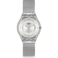 Buy Unisex Swatch Watch Skin Classic Metal Knit SFM118M