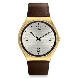 Buy Mens Swatch Watch Skin Irony Skin Suit Coffee SS07G100