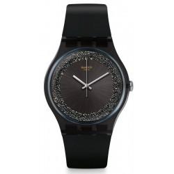 Women's Swatch Watch New Gent Darksparkles SUOB156
