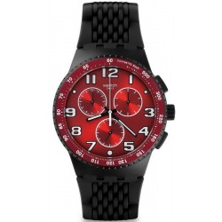 Men's Swatch Watch Chrono Plastic Testa di Toro SUSB101 Chronograph
