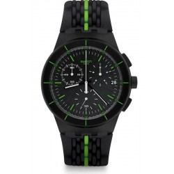 Men's Swatch Watch Chrono Plastic Laser Track SUSB409 Chronograph