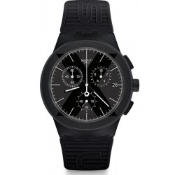 Men's Swatch Watch Chrono Plastic X-District Black SUSB413 Chronograph