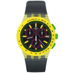 Unisex Swatch Watch Chrono Plastic Yel-Lol SUSJ402 Chronograph