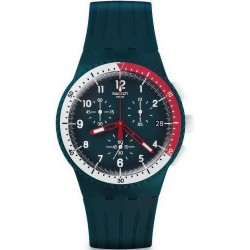 Men's Swatch Watch Chrono Plastic El Comandante SUSN405 Chronograph