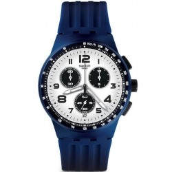 Men's Swatch Watch Chrono Plastic Travel Choc SUSN408 Chronograph