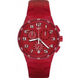 Buy Unisex Swatch Watch Chrono Plastic Red Step SUSR404 Chronograph