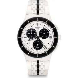 Buy Unisex Swatch Watch Chrono Plastic Piste Noire SUSW407 Chronograph