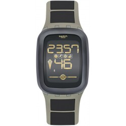 Men's Swatch Watch Digital Touch Zero One Earthzero SUVT100