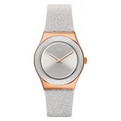 Women's Swatch Watch Irony Medium Grey Sparkle YLG145
