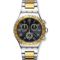 Men's Swatch Watch Irony Chrono Golden Youth YVS427G Chronograph