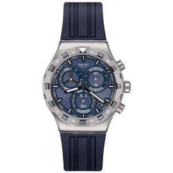 Men's Swatch Watch Irony Chrono Teckno Blue YVS473 Chronograph
