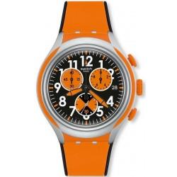 Men's Swatch Watch Irony Xlite Feel Strong YYS4003 Chronograph