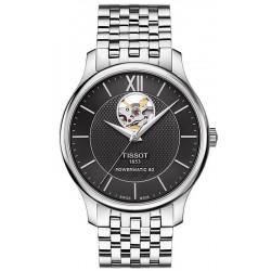 Men's Tissot Watch Tradition Powermatic 80 Open Heart T0639071105800